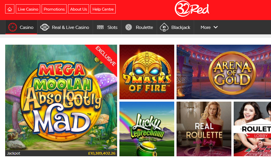 32Red slots betting sites
