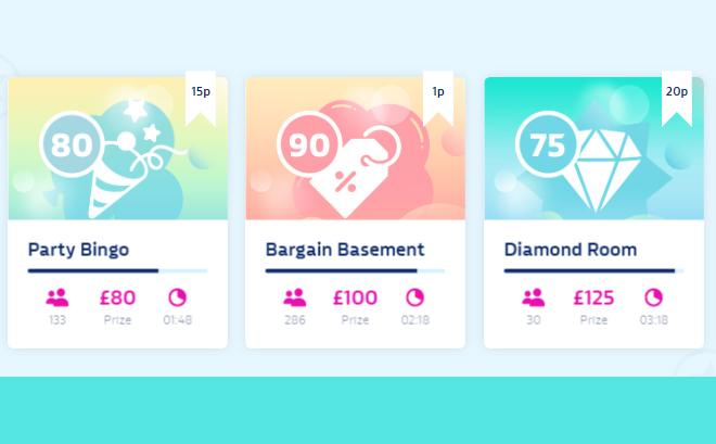 screenshot of William Hill online bingo games