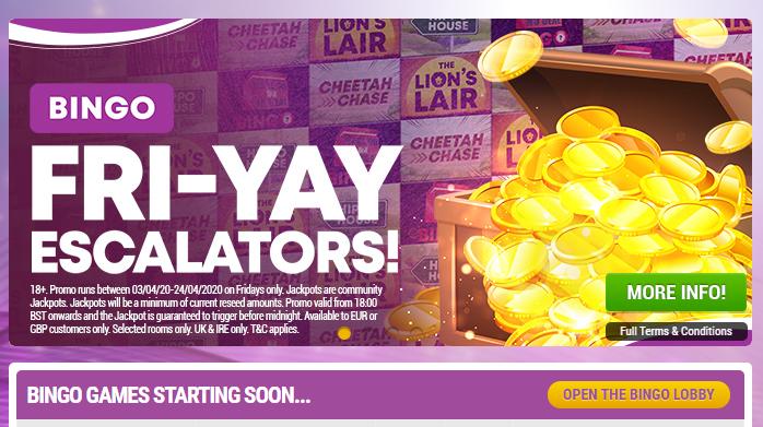 screenshot of Boyle Sports online bingo betting sites