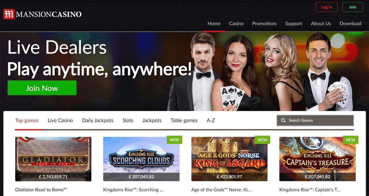mansion online uk casino