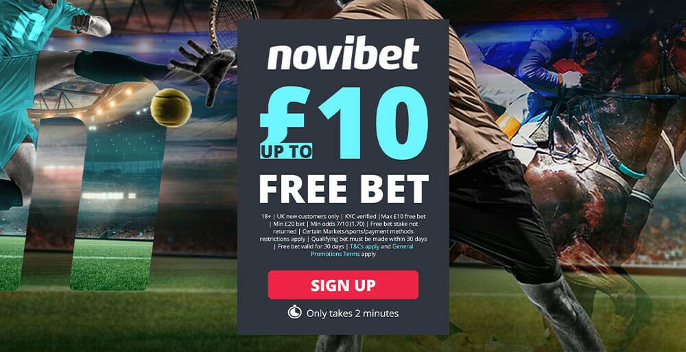 novibet free bet welcome bonus
