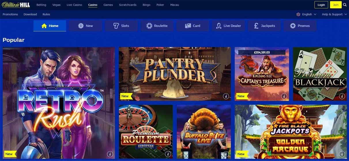 william hill casino uk online