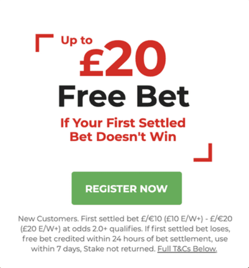 Gentingbet offer up to £20 free bet