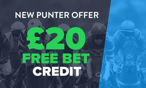 screenshot of BetConnect new punter offer - £20 free bet credit