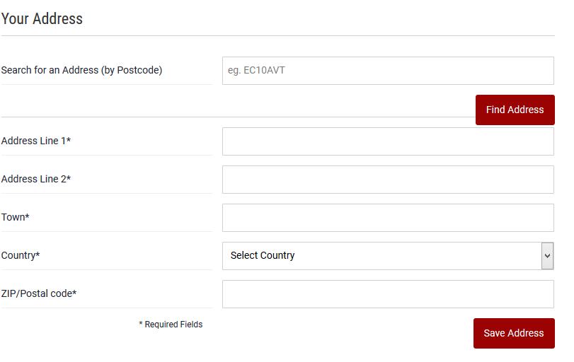 Dafabet Address Registration Form