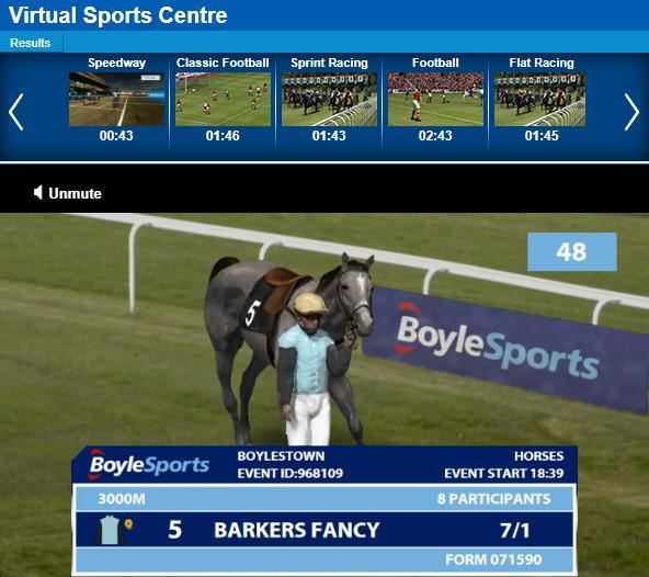 Virtual Horse Racing at BoyleSports