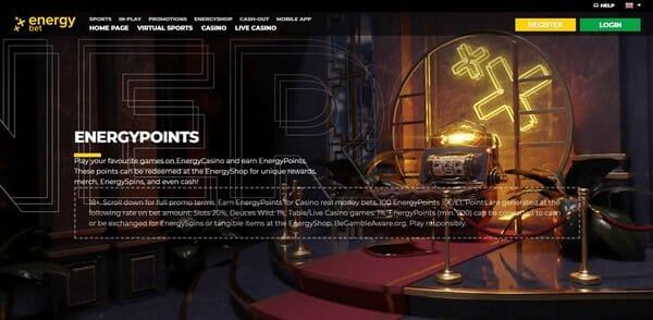 EnergyBet Rewards Screenshot