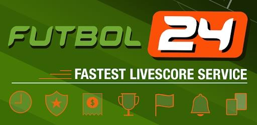 Futbol24 banner advert saying 'Fastest Livescore Service'
