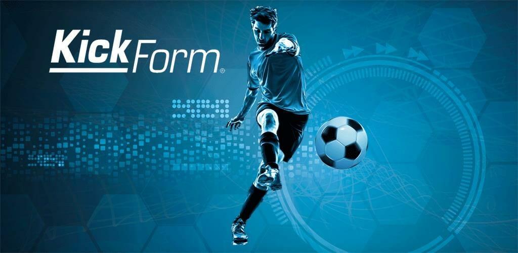 KickForm banner showing a football player kicking a ball