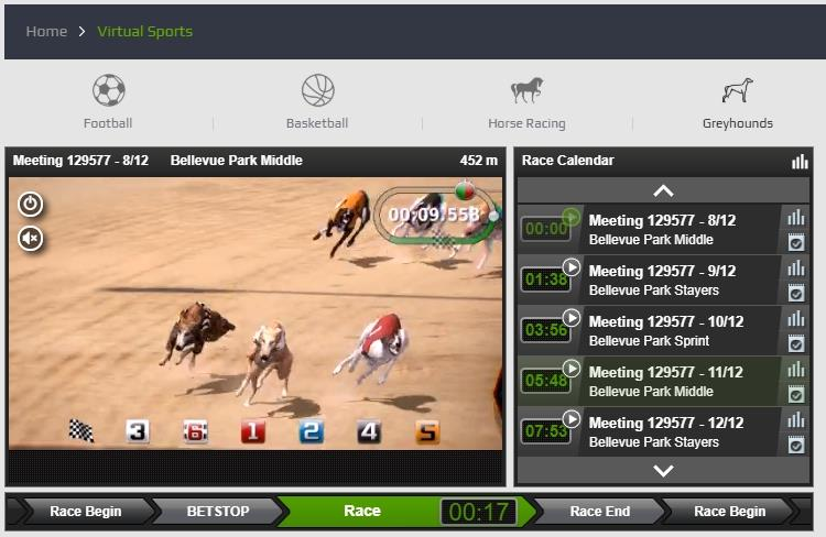Virtual Greyhounds race comes to an end at NetBet