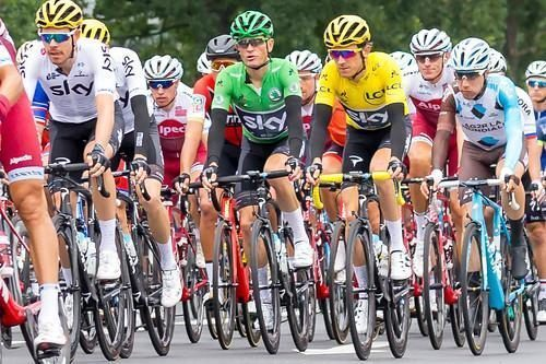 cyclists racing in the tour de france