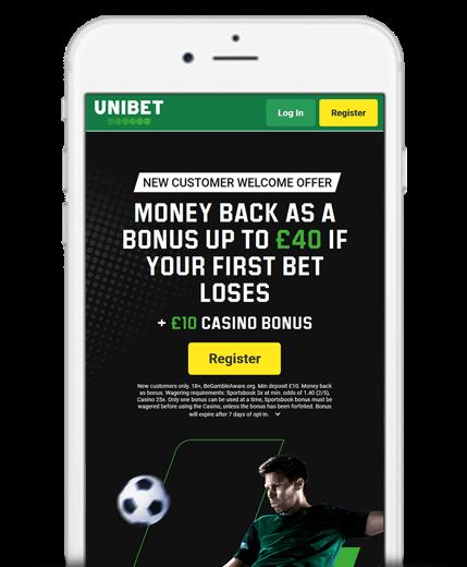 Unibet Bet Builder Mobile Screenshot