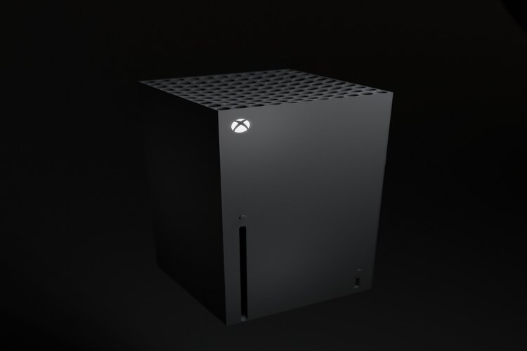 XBox Series X Console standing upright