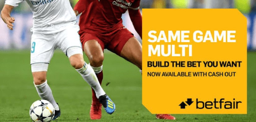 Betfair same game multi bet builder feature