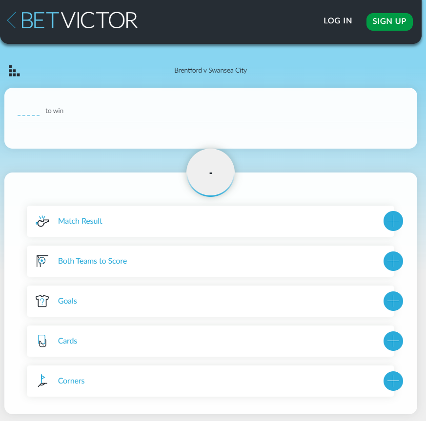 betvictor bet builder feature