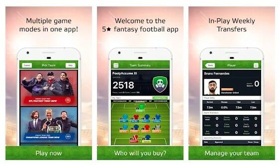Fantasy Hub App Screenshot