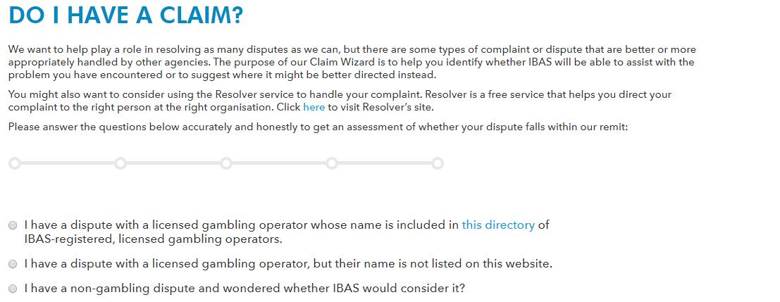 IBAS Claim description