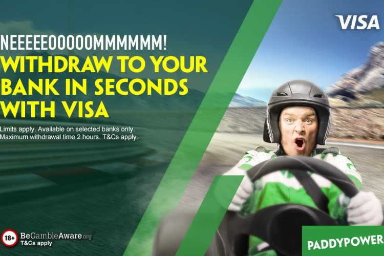 Withdrawal to your bank in seconds with visa