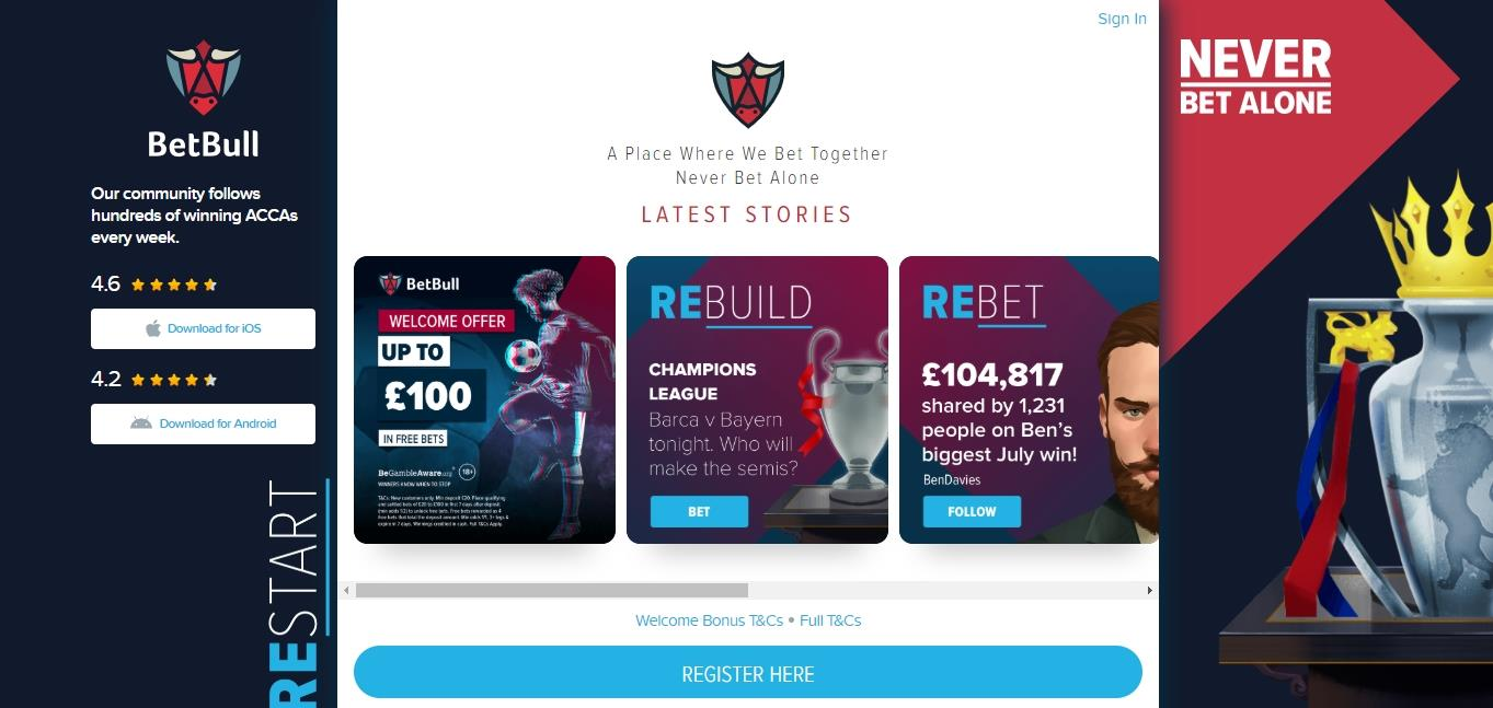 BetBull Latest Stories and Register Here