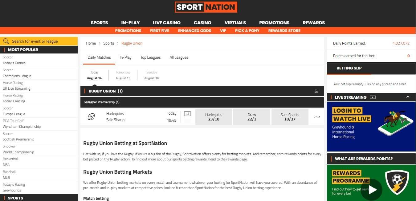 SportNation Rugby Union