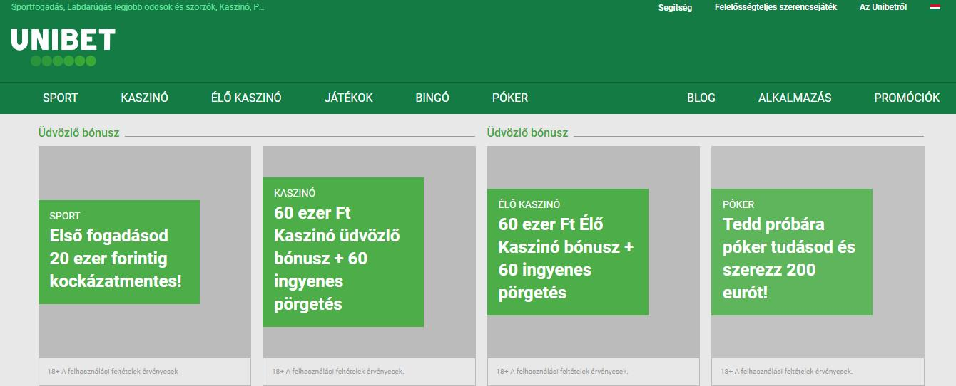 Live Betting in Hungary on Unibet