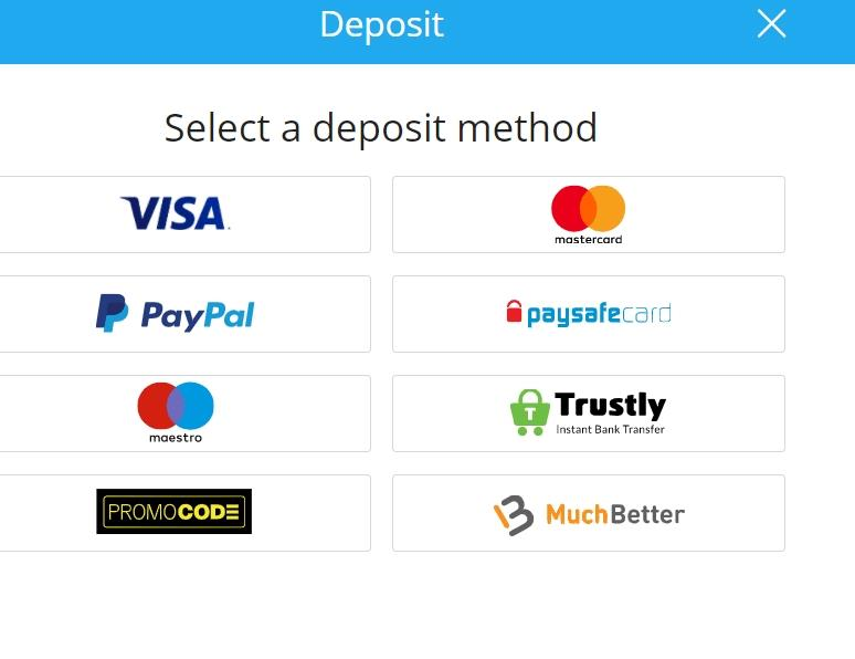 Sportingbet Deposit Options