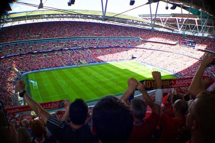Football stadium full of fans