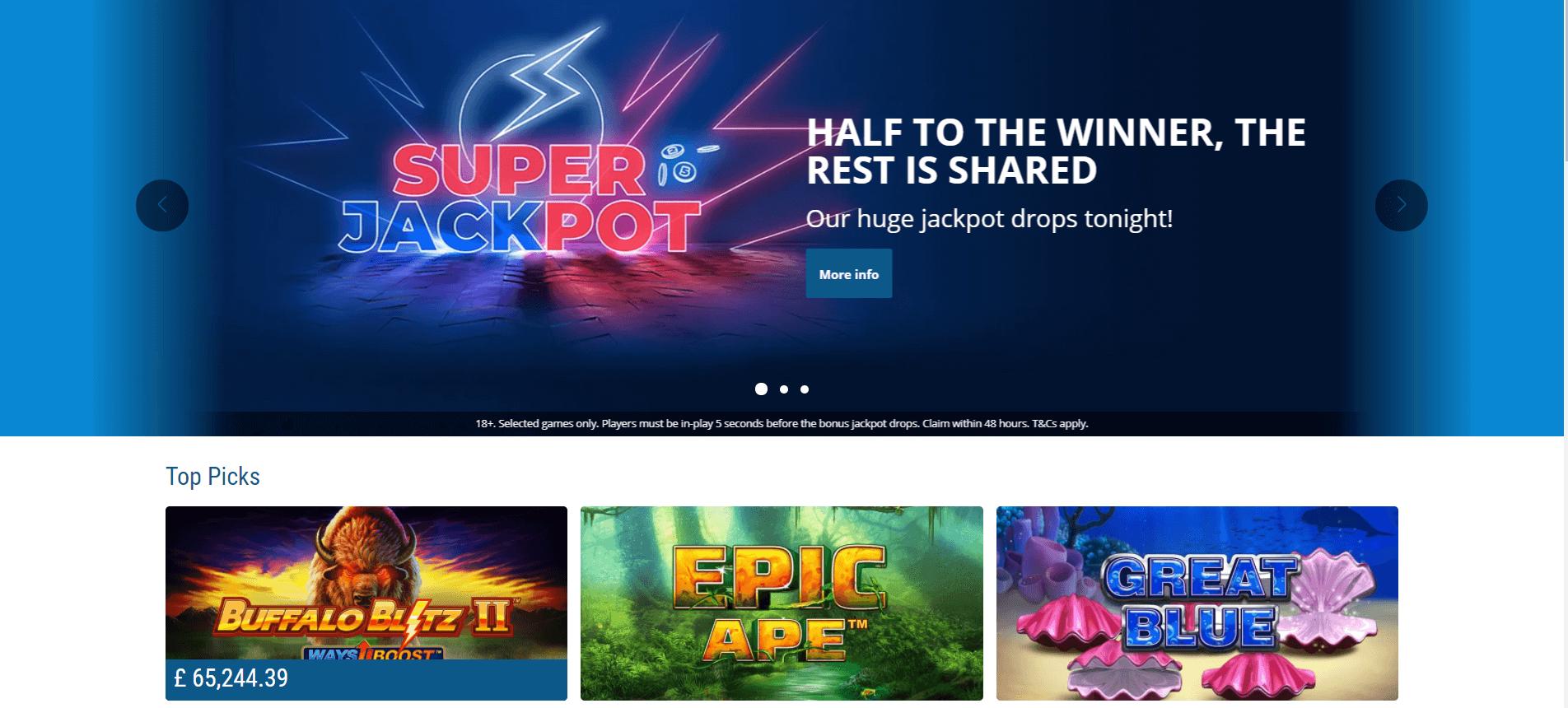 Sportingbet Casino Page