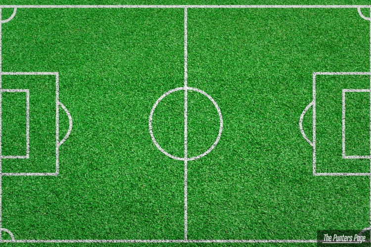 Aerial View Football Pitch