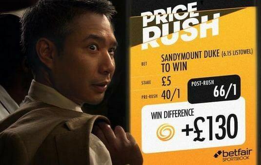 Betfair Price Rush Advert. Source: Betfair