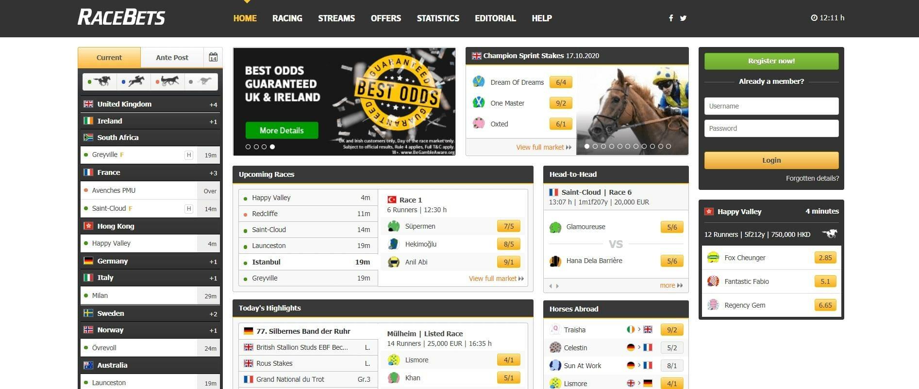 Racebets Horse Racing betting