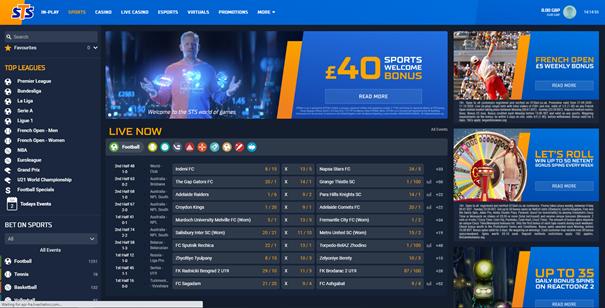 STSBet Website Design