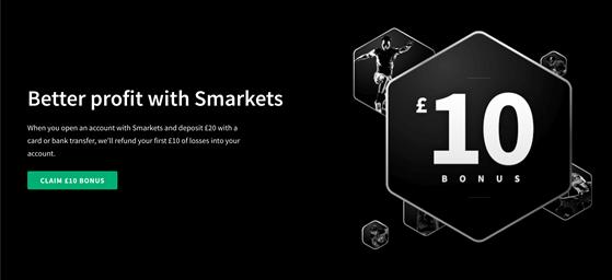 Smarkets welcome offer £10 bonus
