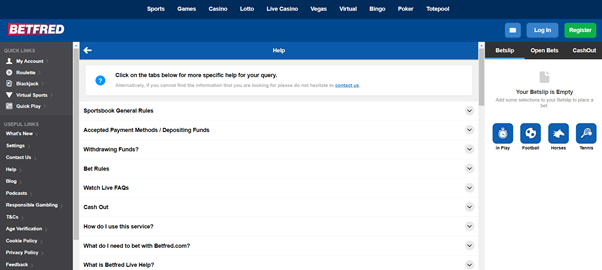 Image Of Betfred Help