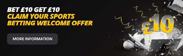 LvBet Bet £10 get £10 welcome offer