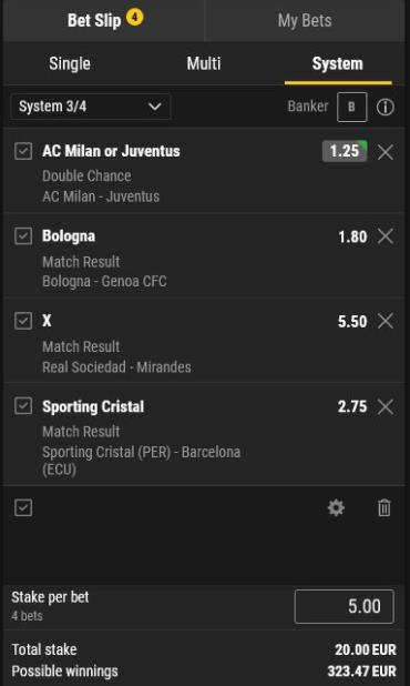 System Bet Example