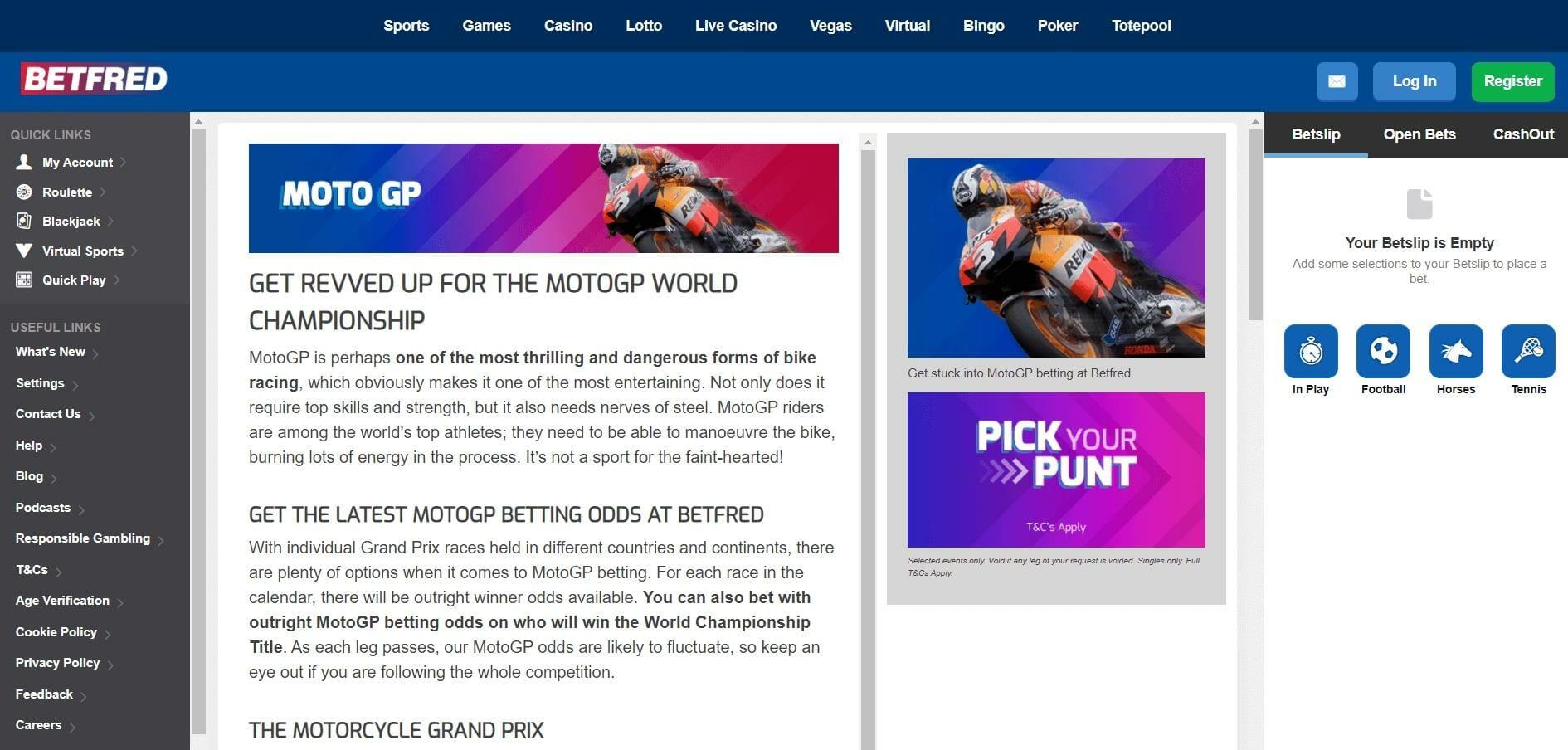 MotoGP Betting Markets