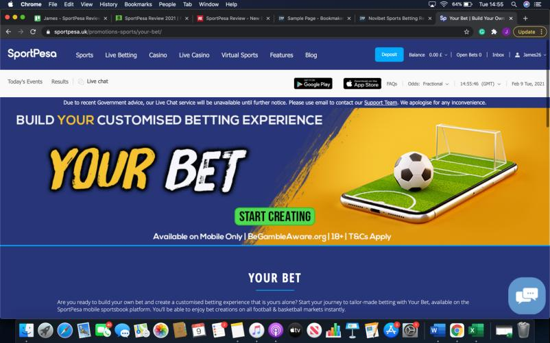 Cash Out & Bet Builder