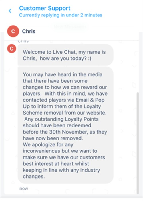 Customer support chat 2