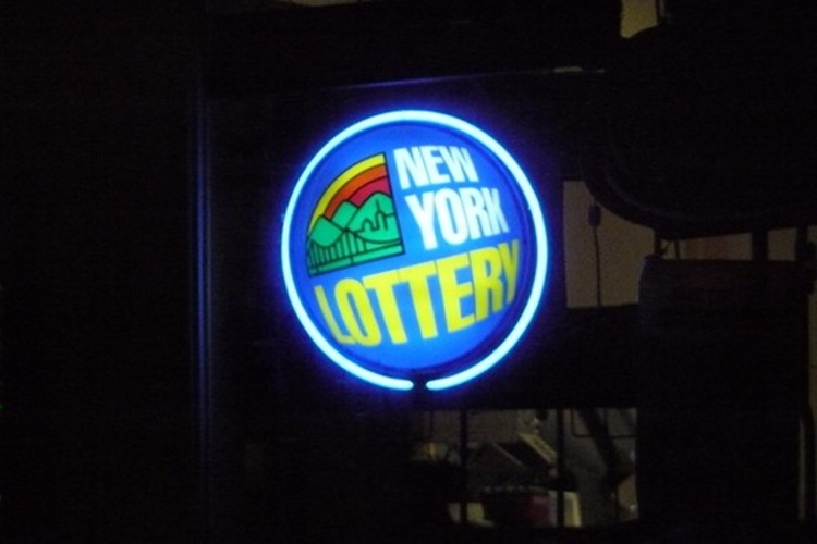 New York Lottery Sign