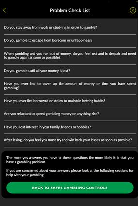Parimatch Problem Checklist