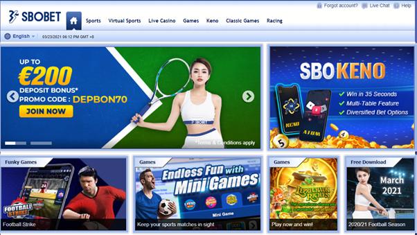 SBOBET homepage
