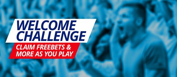 Sportingbet menyambut tantangan - klaim taruhan gratis & lainnya saat Anda bermain