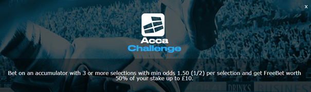 sportingbet ACCA challenge