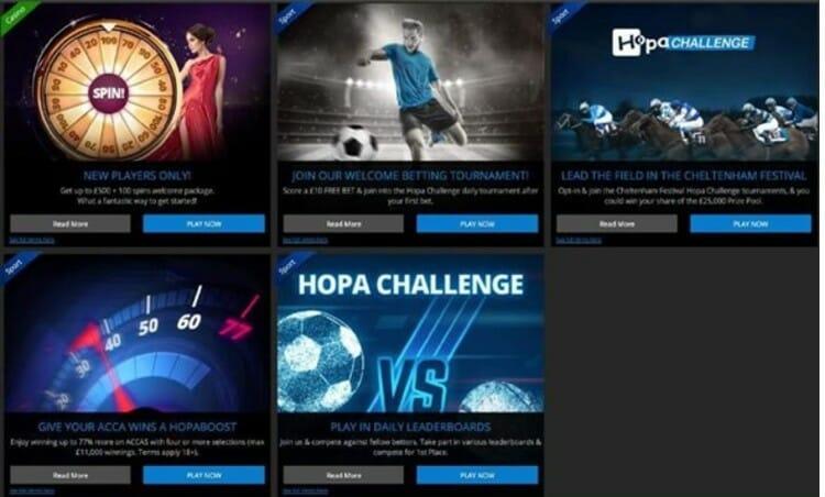 Hopa Sportsbook Promotions