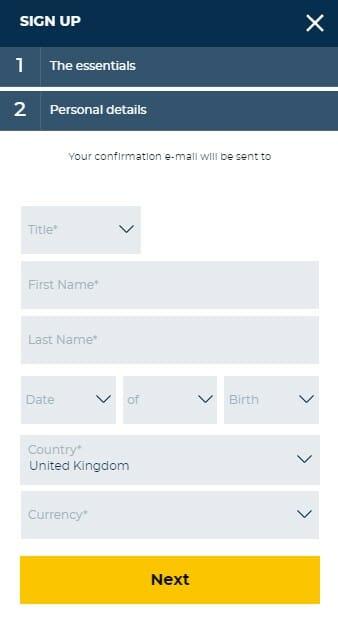 StarSport Personal Details