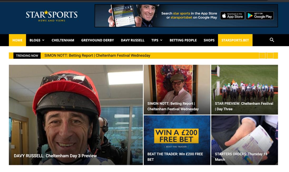 StarSports Homepage