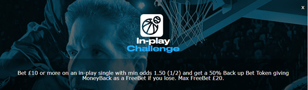 sportingbet - In-play challenge