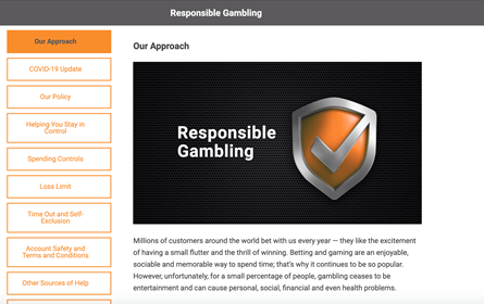 Gamebookers Responsible gaming
