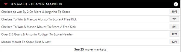 Spreadex Player markets